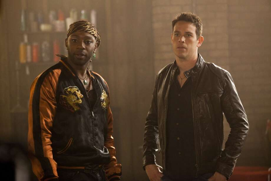 "Kevin Alejandro (right) played a caring warlock on ""True Blood."" Photo: HBO"