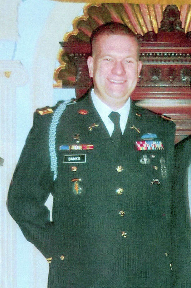 Gregory Banks, a Danbury counselor, in the dress uniform of a U.S  Army Special Forces major, has never served in the military Photo: Contributed Photo / The News-Times Contributed
