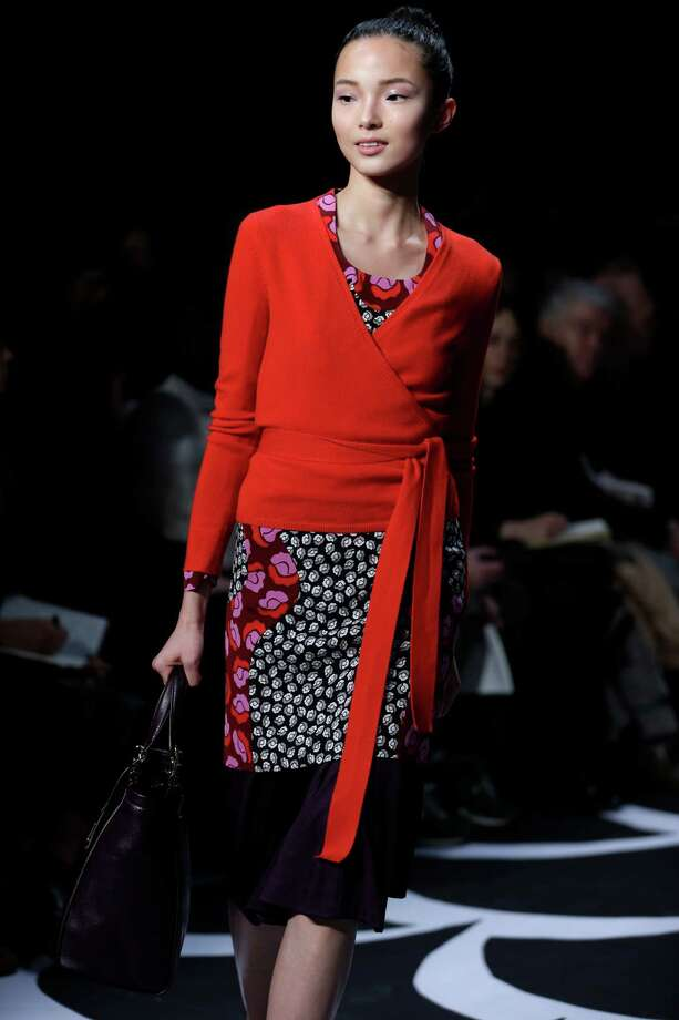 The Fall 2014 Diane von Furstenberg collection is modeled during Fashion Week in New York, Sunday, Feb. 9, 2014. (AP Photo/Seth Wenig) Photo: Seth Wenig, STF / AP