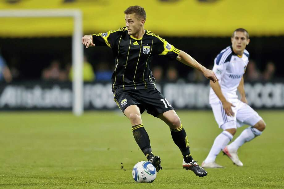 Robbie Rogers played with the MLS's Columbus Crew from 2007 to 2011, scoring 13 goals before making a move to Leeds United of England's Championship league. After departing Leeds, he came out as gay during his retirement press conference in February 2013. He joined L.A. Galaxy just a few months later, and became the first openly gay athlete to play in a North American professional sports league. Photo: Jamie Sabau, Getty Images / 2011 Getty Images