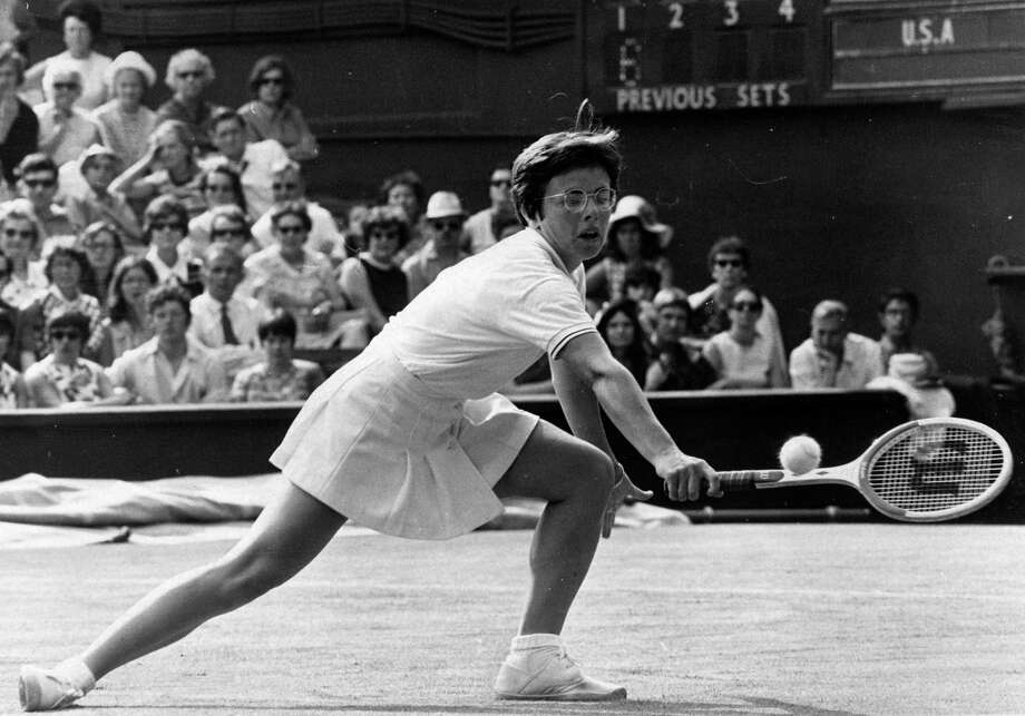 "Billy Jean King won 39 Grand Slam titles and was instrumental in professionalizing women's tennis. One of the greatest players of all-time, she is perhaps best known for defeating former men's champion Bobby Riggs in the 1973's ""Battle of the Sexes,"" which won her $100,000 in prize money. She was outed in 1981 during divorce proceedings and lost millions in endorsement deals. President Barack Obama appointed her to represent the U.S. in Sochi, but she had to bow out at the last minute due to the death of her mother. Photo: Ted West, Getty Images / Hulton Archive"