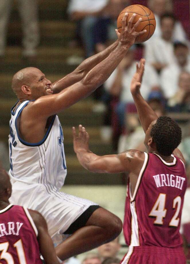 "A former Penn State star, John Amaechi played with the Cleveland Cavaliers, Orlando Magic and Utah Jazz in parts of five NBA seasons from 1995-2003, averaging 6.2 points-per-game during that span. He also played professionally in Greece, the United Kingdom, Italy and France. He came out as gay in 2007 during an interview with ESPN's ""Outside the Lines."" Photo: TONY RANZE, AFP/Getty Images / AFP"