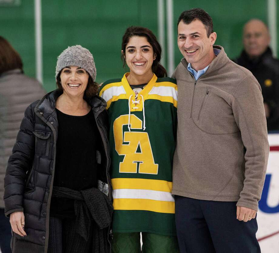 Greenwich Academy against Rye Country Day during a girls ice hockey game played at Chelsea Piers, Stamford, CT on Monday, February, 10th, 2014. Photo: Mark Conrad / Connecticut Post Freelance