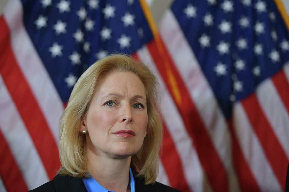 Senator Kirsten Gillibrand, D-NY attends a press conference calling for the creation of an independent military justice system to deal with sexual harassment and assault in the military, in the Russell Senate Office Building on Capitol Hill in Washington, DC on February 6, 2014. AFP PHOTO/Mandel NGANMANDEL NGAN/AFP/Getty Images Photo: MANDEL NGAN / AFP
