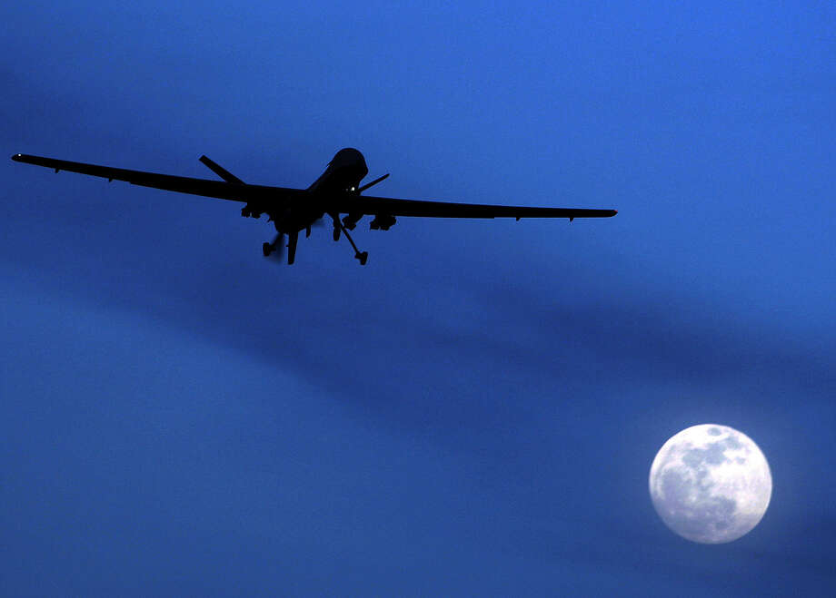 A problem for the U.S. is that only a Pentagon drone could strike the target, not a CIA drone. Photo: Associated Press File Photo / AP