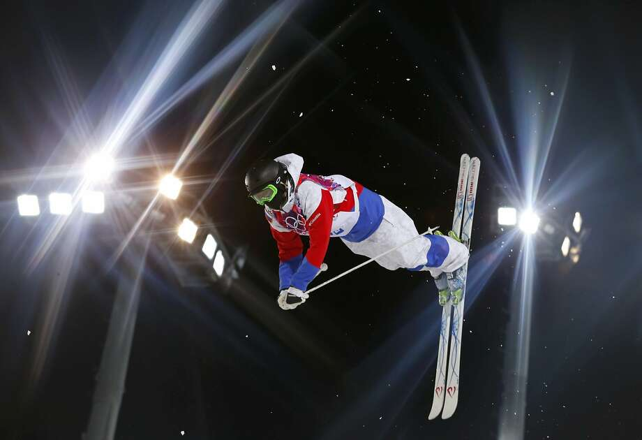 Russia's Aleksey Pavlenko performs a jump during the men's freestyle skiing moguls qualification round at the 2014 Sochi Winter Olympic Games in Rosa Khutor, February 10, 2014.             REUTERS/Lucas Jackson (RUSSIA  - Tags: SPORT OLYMPICS SPORT SKIING TPX IMAGES OF THE DAY) Photo: Lucas Jackson, Reuters