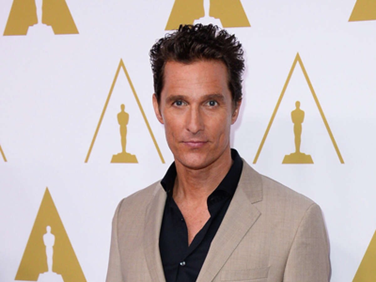 Matthew McConaughey arrives at the 86th Oscars Nominees Luncheon, on Monday, Feb., 10, 2014 in Beverly Hills, Calif.