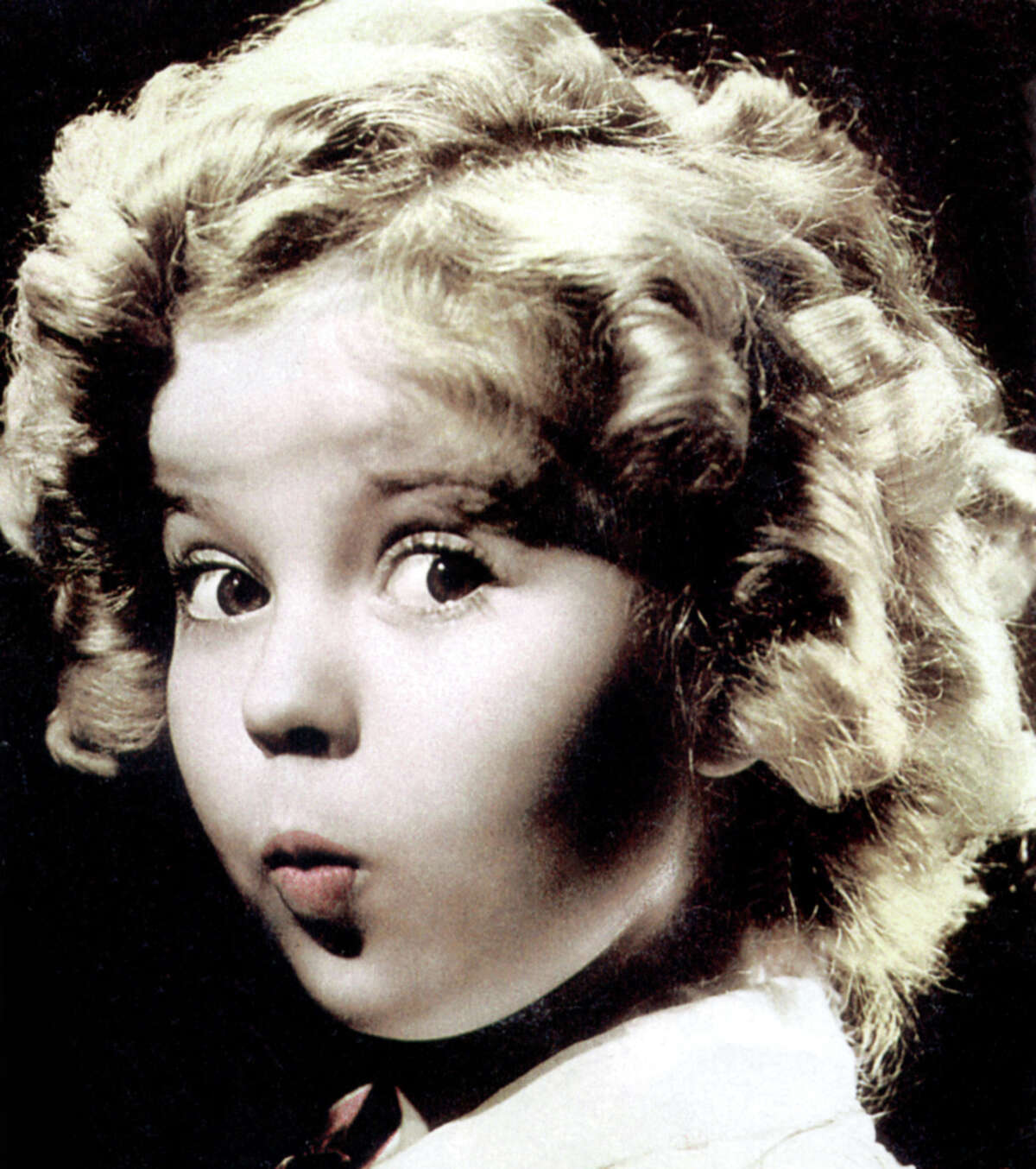 Circa 1930s: Shirley Temple and her famous baby face.