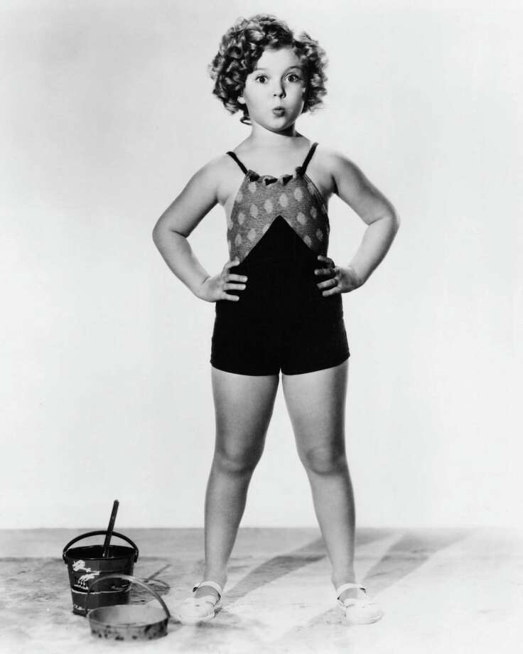 1935: American child actress Shirley Temple wearing a bathing costume. Photo: Silver Screen Collection, Getty Images / 2013 Getty Images