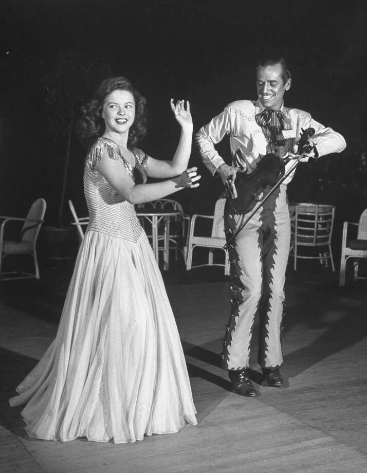 "1946: Actress Shirley Temple performing in the movie ""Mexican Honeymoon."" Photo: Peter Stackpole., Time & Life Pictures/Getty Image / Time & Life Pictures"