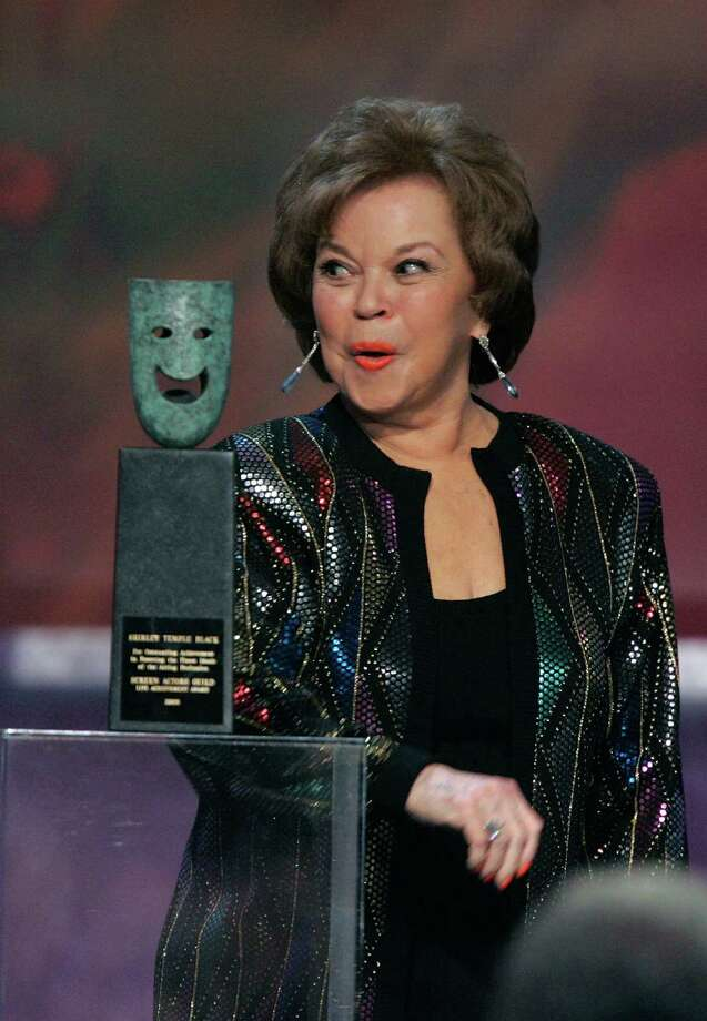2006:  Shirley Temple Black accepts the Life Achievement Award onstage during the 12th Annual Screen Actors Guild Awards held at the Shrine Auditorium on January 29, 2006 in Los Angeles. Photo: Kevin Winter, Getty Images / 2006 Getty Images