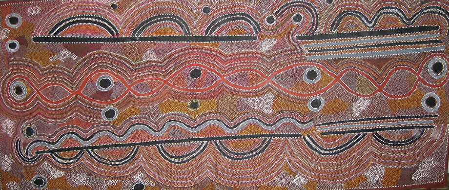Annie MacDougall, curator and owner of a collection of Australian Aboriginal western desert paintings and Papua New Guinea masks, will make a presentation at the New Canaan Library Feb. 20. Photo: Contributed Photo, Contributed / New Canaan News Contributed