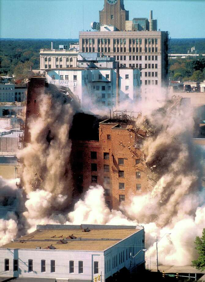 The LaSalle Hotel was imploded in 1995. The lot that once housed the building is now for sale by the City of Beaumont. Enterprise file photo
