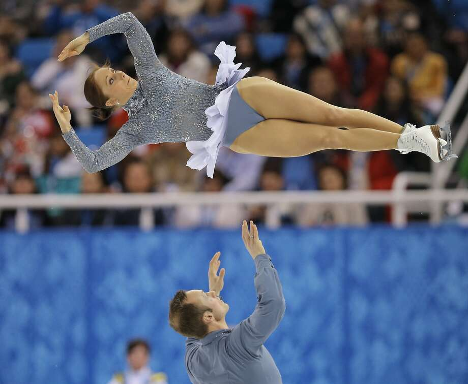 Maylin Wende and Daniel Wende of Germany compete in the pairs short program figure skating competition at the Iceberg Skating Palace during the 2014 Winter Olympics, Tuesday, Feb. 11, 2014, in Sochi, Russia. Photo: Vadim Ghirda, Associated Press
