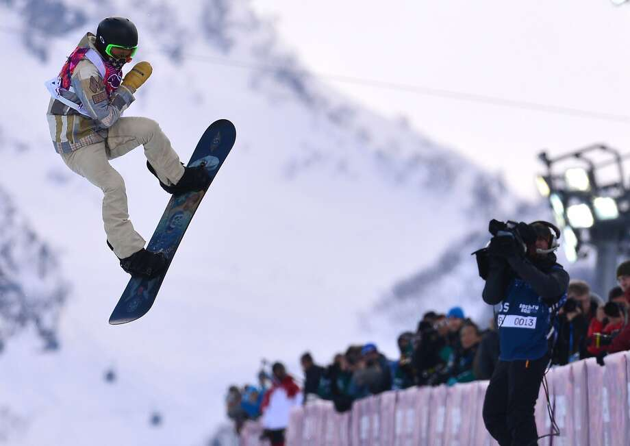 US Shaun White competes in the Men's Snowboard Halfpipe qualifications at the Rosa Khutor Extreme Park during the Sochi Winter Olympics on February 11, 2014.  Photo: Dimitar Dilkoff, AFP/Getty Images
