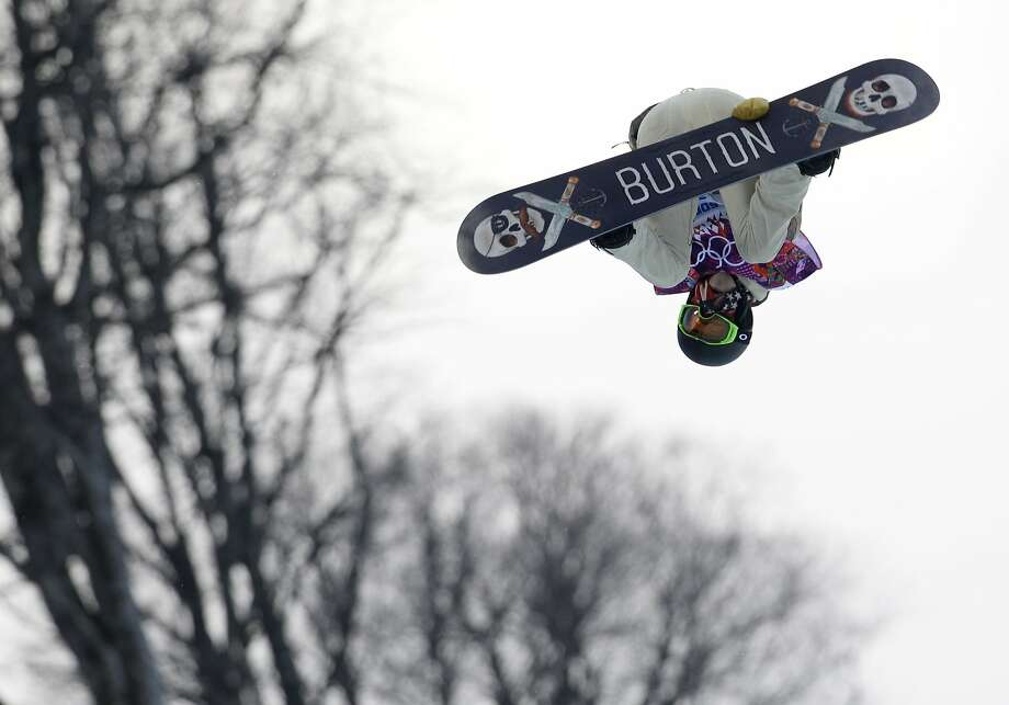 US Shaun White competes in the Men's Snowboard Halfpipe qualifications at the Rosa Khutor Extreme Park during the Sochi Winter Olympics on February 11, 2014. Photo: Franck Fife, AFP/Getty Images