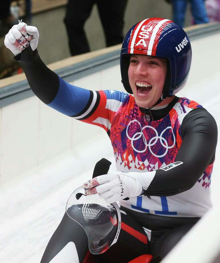 America's Erin Hamlin won bronze in the women's luge event, the first-ever US medal in the sport. Photo: Alexander Hassenstein, Getty / 2014 Getty Images