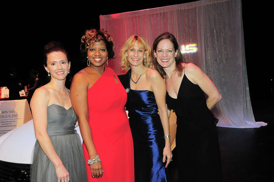 Amber Baker, Myra Robinson, Midge LaPorte Epstein, and Olympia Ammon at the American Heart Association's 31st Annual Houston Heart Ball at The Hobby Center Saturday 02/08/14. Photo by Tony Bullard. Photo: © Tony Bullard 2014, For The Chronicle / © 2014 Tony Bullard