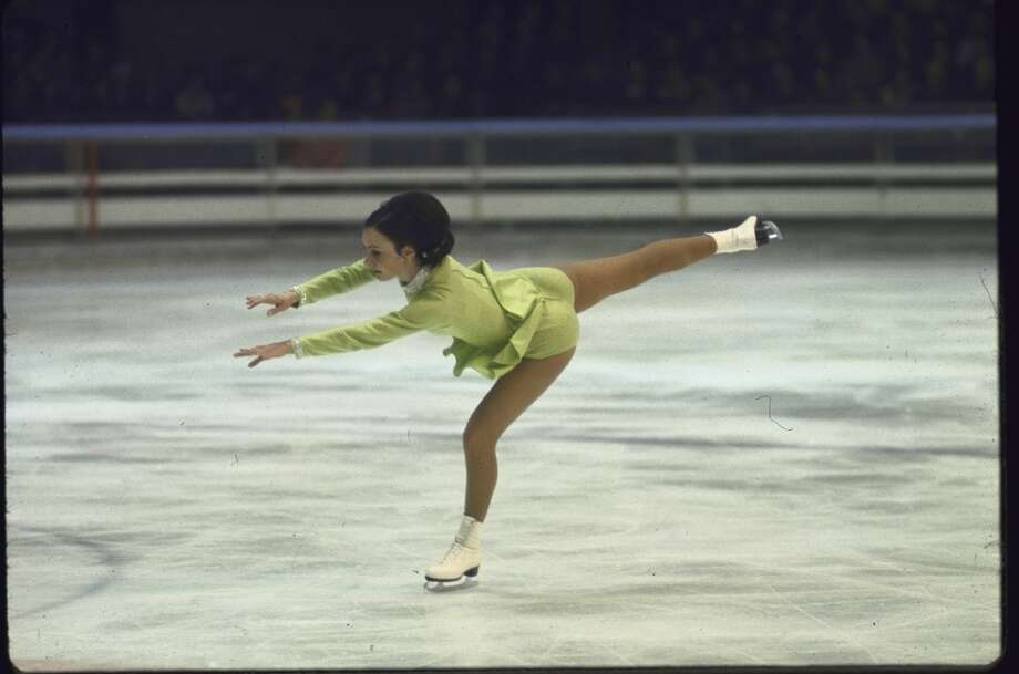 Peggy Fleming at the 1968 Olympics in a dress made by her mother. (Art Rickerby/Getty) Photo: Art Rickerby, Time & Life Pictures/Getty Image