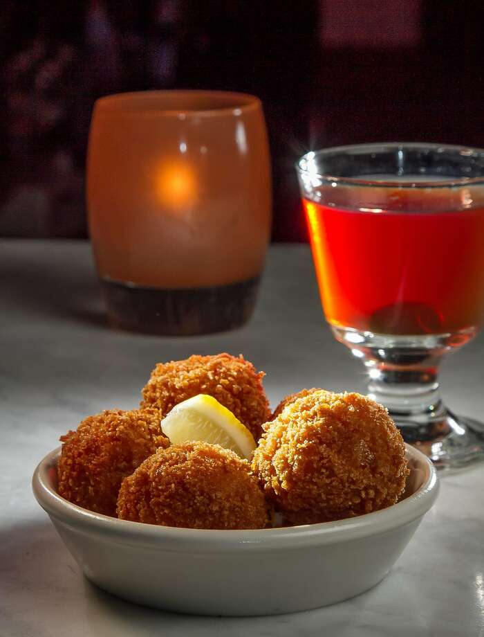 "The Arancini with a ""Remember the Maine"" cocktail at A16 in Oakland, Calif., is seen on Thursday, February 6th, 2014. Photo: John Storey, Special To The Chronicle"