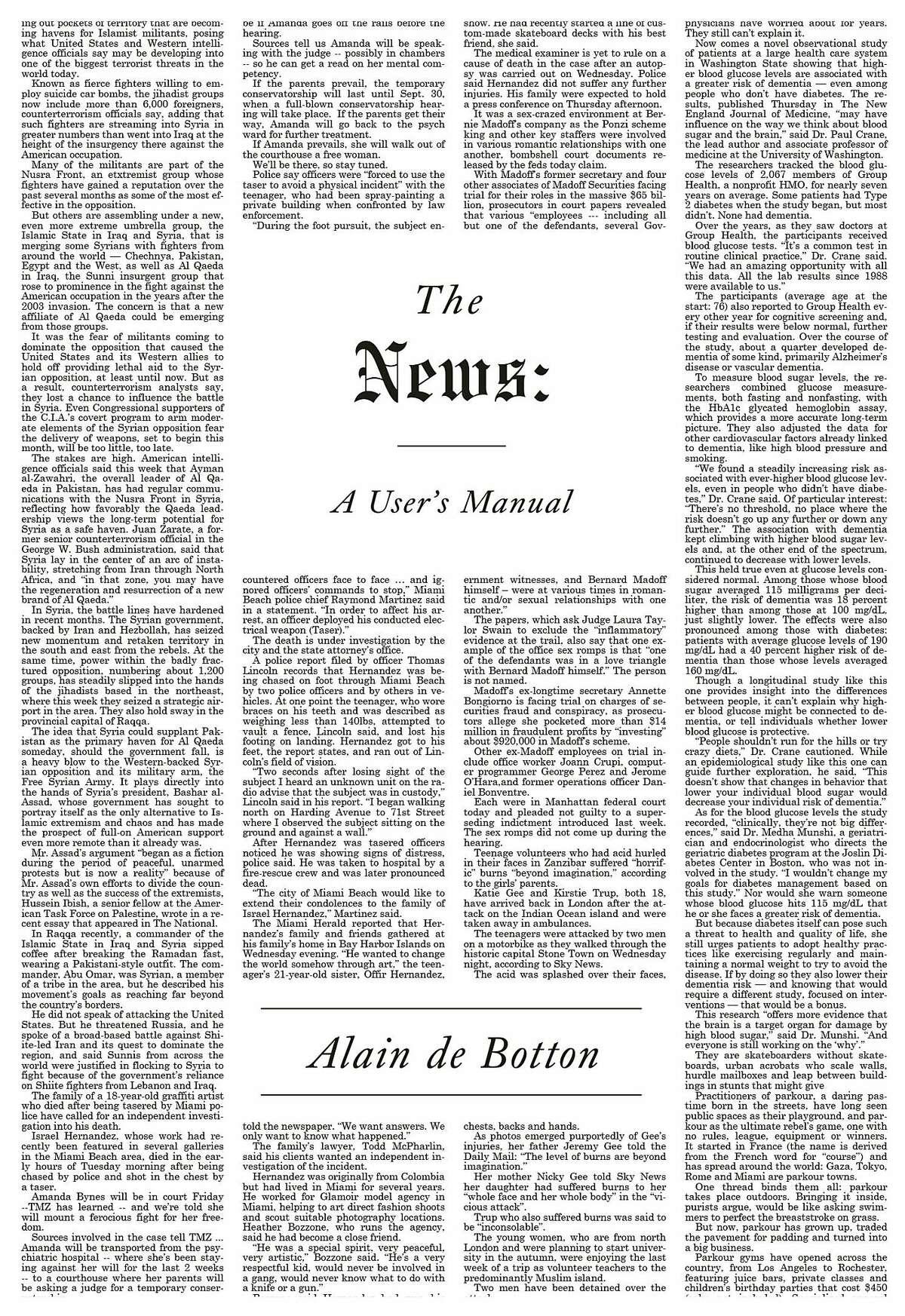 The News: A User's Manual, by Alain de Botton