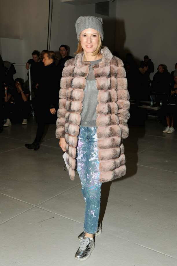 Lizzie Tisch attends the Rodarte fashion show during Mercedes-Benz Fashion Week Fall 2014 at Center 548 on February 11, 2014 in New York City.  (Photo by Ben Gabbe/Getty Images) Photo: Ben Gabbe, Getty Images