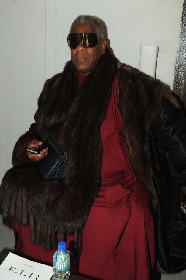 Andre Leon Talley attends the Rodarte fashion show during Mercedes-Benz Fashion Week Fall 2014 at Center 548 on February 11, 2014 in New York City.  (Photo by Ben Gabbe/Getty Images) Photo: Ben Gabbe, Getty Images