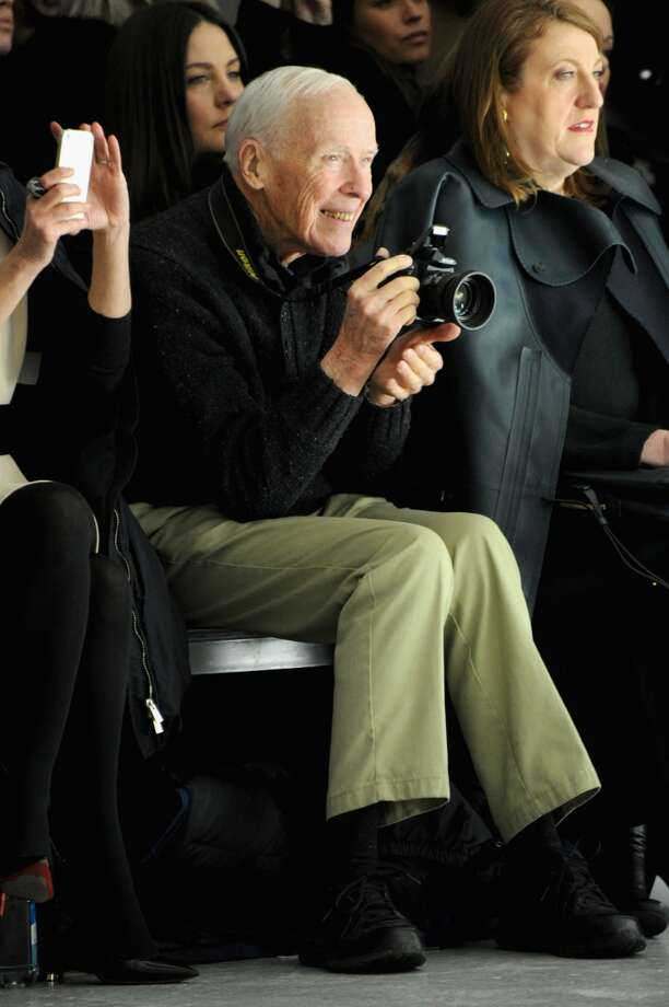 Photographer Bill Cunningham (L) and Glenda Bailey attend the Rodarte fashion show during Mercedes-Benz Fashion Week Fall 2014 at Center 548 on February 11, 2014 in New York City.  (Photo by Ben Gabbe/Getty Images) Photo: Ben Gabbe, Getty Images