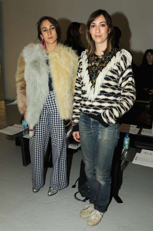 Delfina Delettrez Fendi (L) and Gia Coppola attend the Rodarte fashion show during Mercedes-Benz Fashion Week Fall 2014 at Center 548 on February 11, 2014 in New York City.  (Photo by Ben Gabbe/Getty Images) Photo: Ben Gabbe, Getty Images