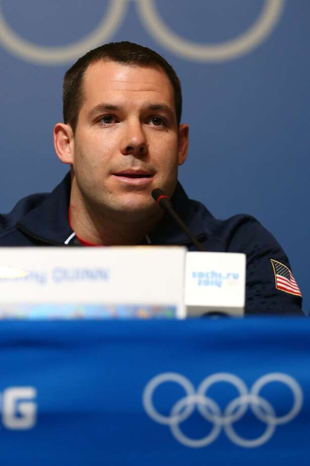 American bobsledder Johnny Quinn has become the poster child for broken things in Sochi. First he got stuck in a bathroom and had to Hulk-smash his way out. Then, he got trapped in an elevator with his teammates. Poor guy shouldn't leave his hotel room. (Photo by Streeter Lecka/Getty Images) Photo: Streeter Lecka, Getty Images