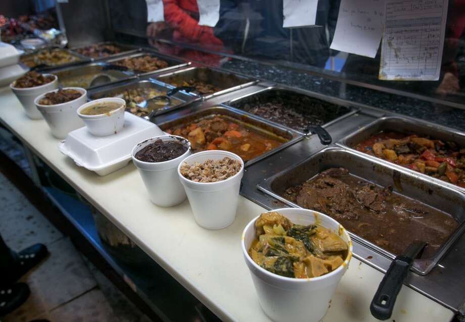 Food waiting for take-out at Fil-Am Cuisine in Daly City. Photo: John Storey, Special To The Chronicle
