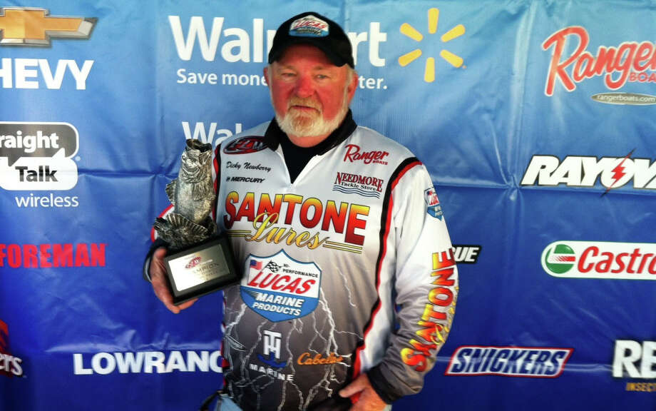 Boater Dicky Newberry of Houston, Texas, grabbed the tournament title during the Feb. 8 Walmart BFL Cowboy Division event on Sam Rayburn Reservoir using a total catch of 19 pounds, 4 ounces. Newberry walked away with over $7,600 in winnings thanks to his first-place finish as well as Ranger Cup and Mercury bonuses.  Photo courtesy FLWOutdoors.com