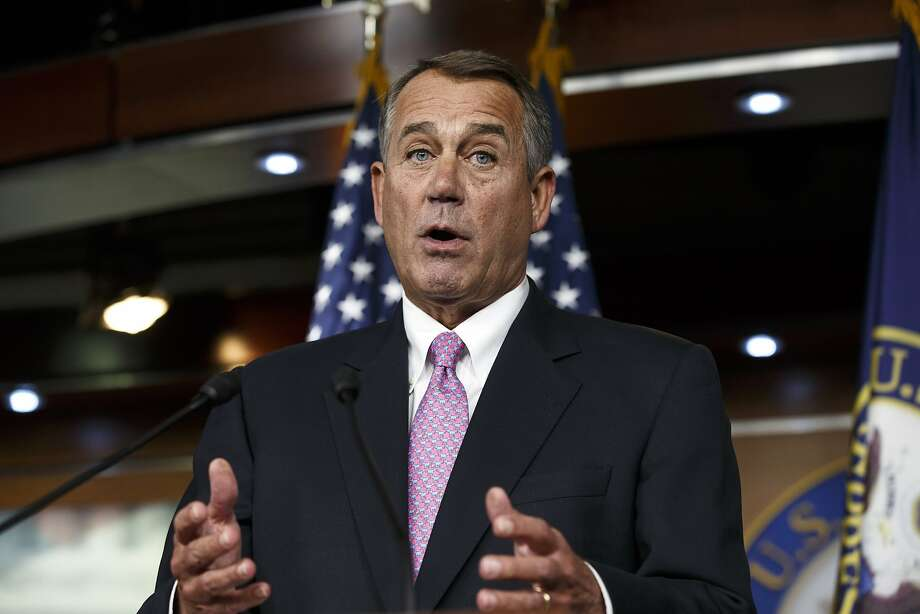 Speaker John Boehner and 27 other Republicans voted for the debt-limit increase. Photo: J. Scott Applewhite, Associated Press