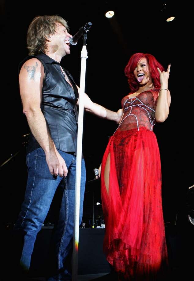 Jon Bon Jovi and Rihanna perform on stage during a secret gig ahead of the MTV Europe Music Awards 2010. (Photo by Dave J Hogan/Getty Images) Photo: Dave J Hogan, Getty Images