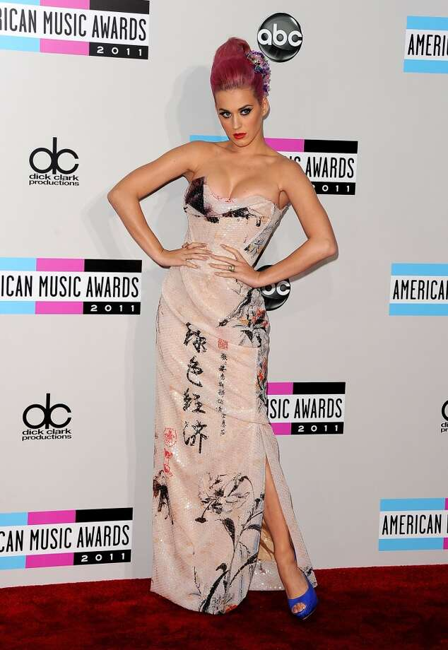 Katy Perry arrives at the 2011 American Music Awards on November 20, 2011 in Los Angeles, California.  (Photo by Jason Merritt/Getty Images) Photo: Jason Merritt, Getty Images