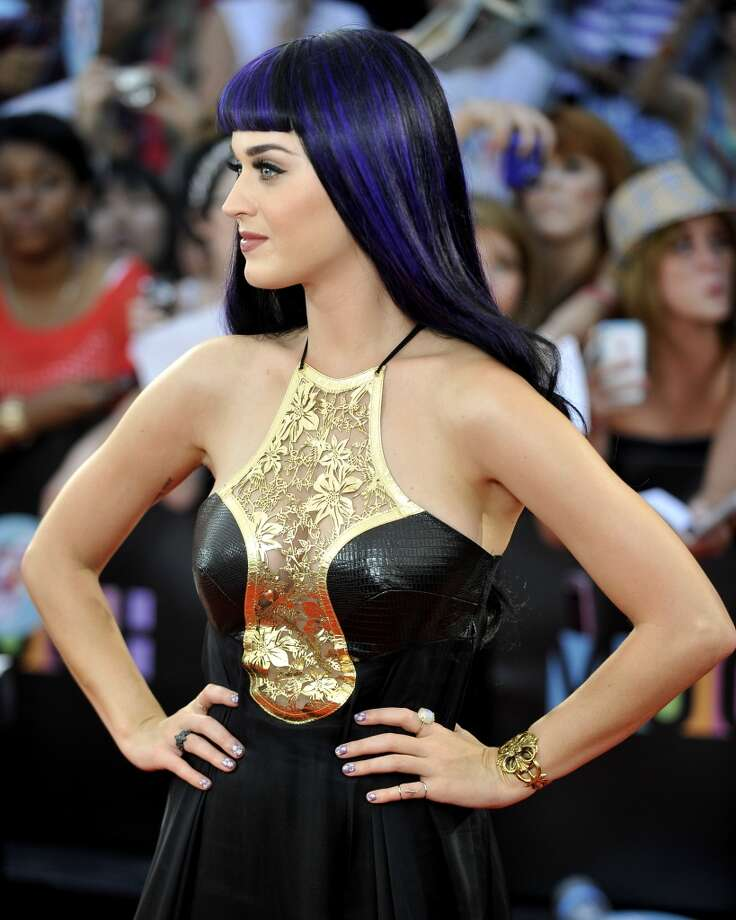 Katy Perry arrives at the 2012 MuchMusic Video Awards at the MuchMusic HQ on June 17, 2012 in Toronto.  (Photo by Jag Gundu/Getty Images) Photo: Jag Gundu, Getty Images