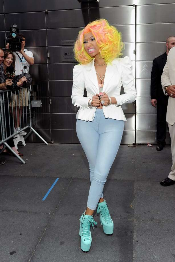 """American Idol"" Season 12 judge Nicki Minaj arrives for day one auditions at Jazz at Lincoln Center on Sunday, Sept. 16, 2012 in New York. (Photo by Evan Agostini/Invision/AP) Photo: Evan Agostini, Associated Press"