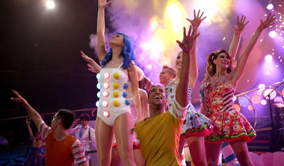 "This film image released by Paramount Pictures shows Katy Perry performing with dancers in a scene from her 3D film, ""Katy Perry: Part of Me."" (AP Photo/Paramount Pictures) Photo: Associated Press"