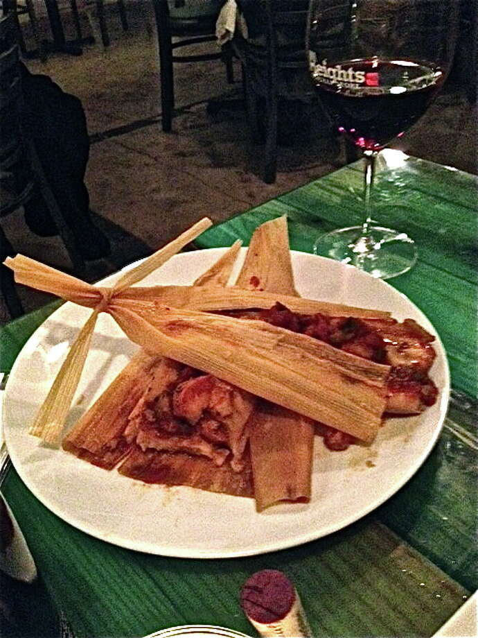 Shrimp Creole tamales at Heights General Store. Photo: Alison Cook