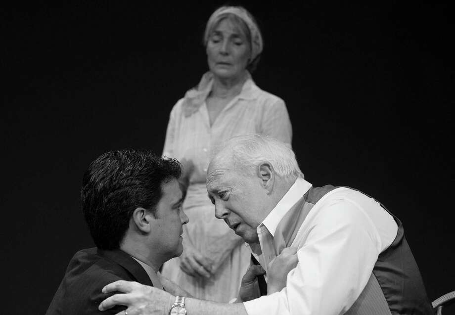 "Terri Peña Ross (clockwise from top), Allan S. Ross and Anthony Ciaravino star in Classic Theatre's staging of ""Death of a Salesman."" Photo: Courtesy Dwayne Green"