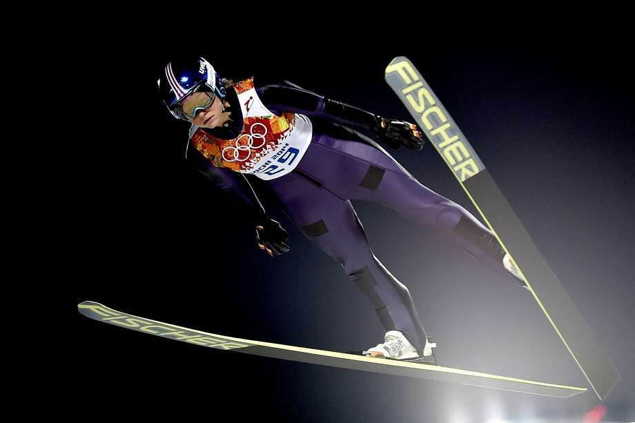 In an historic first, Germany's Carina Vogt won gold in the inaugural women's ski jumping competition. Men's ski jumping has been a Winter Olympics staple since the games' inception in 1924. Photo: Vianney Thibaut/Agence Zoom, Getty Images