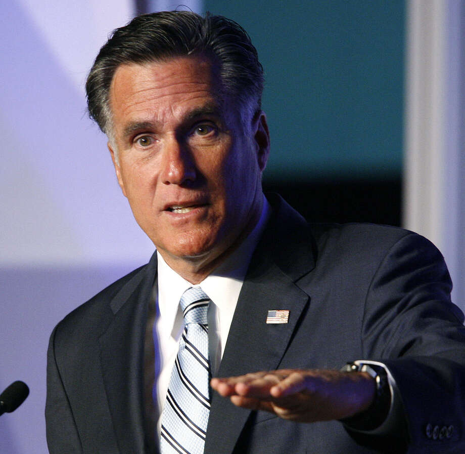 Republican presidential nominee Mitt Romney addresses the U.S. Hispanic Chamber of Commerce in  2012. A reader chides a national columnist for her assumptions about Romney. Photo: David McNew / Associated Press / FR170514 AP