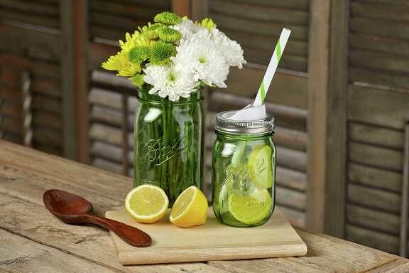 Heritage Collection Spring Green Quart Jar