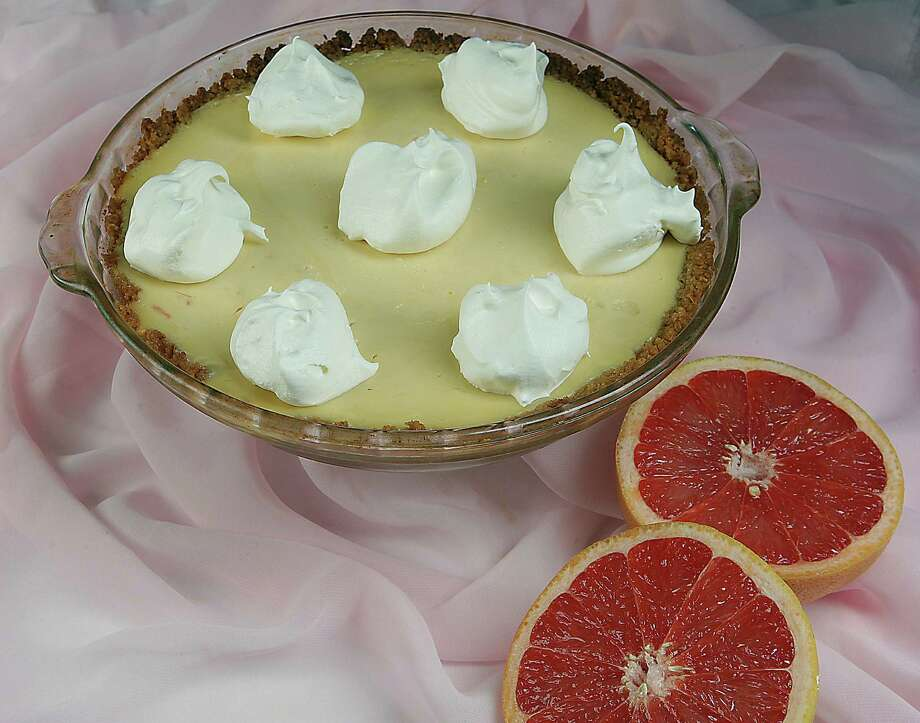 Pink Grapefruit Pie. Photo: James Nielsen, Staff / © 2013  Houston Chronicle