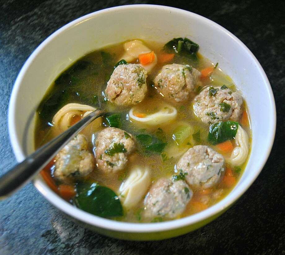 Meatballs add wonderful flavor and texture to soup. Photo: GRETCHEN MCKAY, MBR / Pittsburgh Post-Gazette