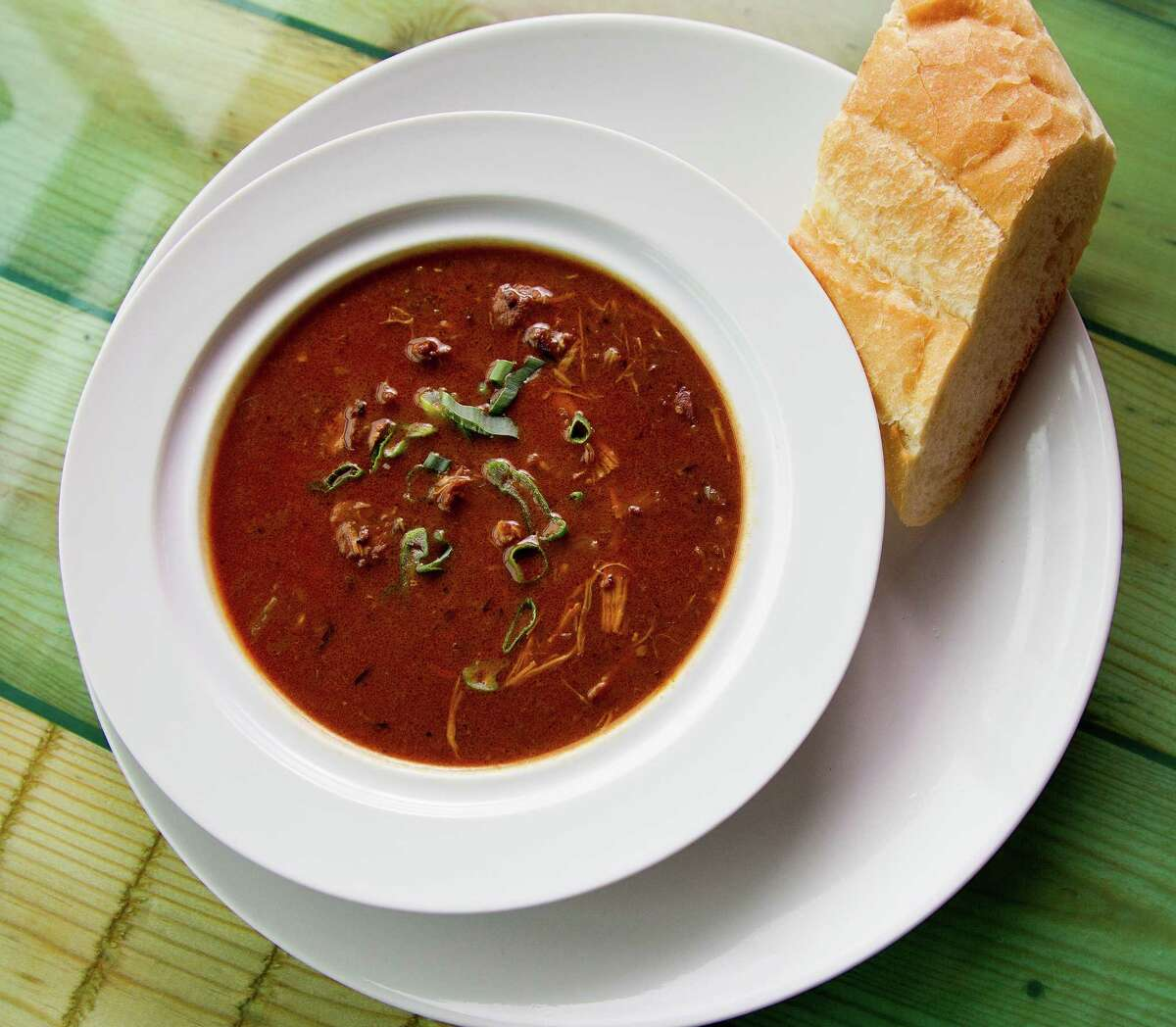 Gumbo Ya Ya (andouille sausage, roasted chicken, holy trinity and dark roux) easily ranks among the city's best.