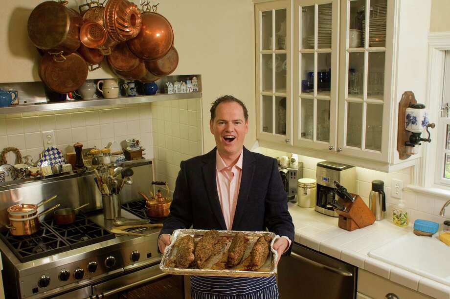In Houston to perform in the Early Music Festival, Ryland Angel cooks as a hobby, and he has combined his interests to create the Kitchen Opera Company. Photo: Johnny Hanson, Staff / © 2014  Houston Chronicle