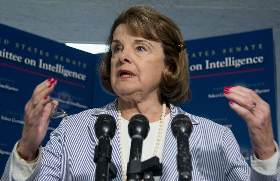 Sen. Dianne Feinstein, D-Calif., joins legislators calling for better protections of the energy grid. Photo: Manuel Balce Ceneta, Associated Press