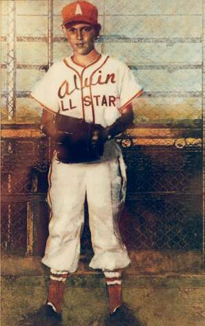 Shown here in an illustration, The Ryan Express was a Little League All-Star in his hometown of Alvin. Photo: Kerwin Plevka, Houston Chronicle File
