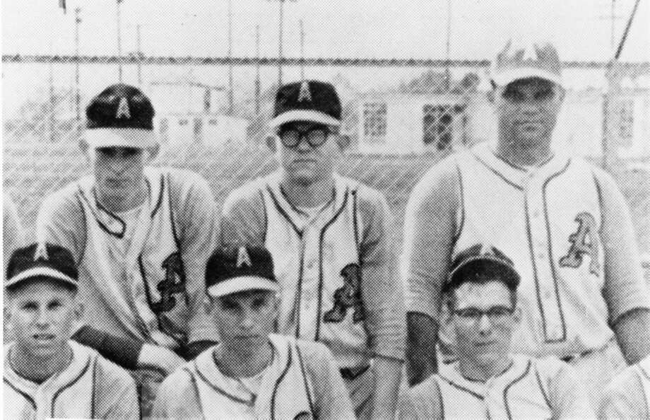 From the oil fieldsNolan Ryan's father, Lynn Nolan Ryan Sr., worked as a supervisor for the Stanton Oil Company. See if you can spot young Ryan from his days playing in Alvin. Photo: Handout Photo